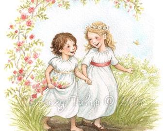 Daisy and Rose - Art Print