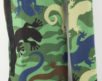 Shopping Cart Safety Harness - Salamander Camo wrap and black strap