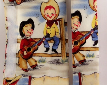 Shopping Cart Safety Harness - Lil' Cowpokes Cowboy Cowgirl wrap and black strap