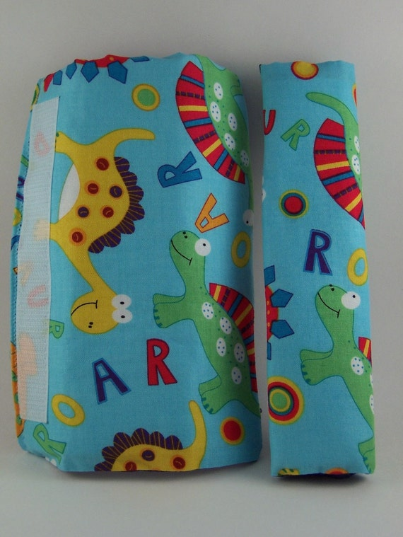 Shopping Cart Safety Harness - Dinosaur Dino Roar wrap and purple strap