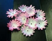 100 Pink with White artificial silk daisy flower petals