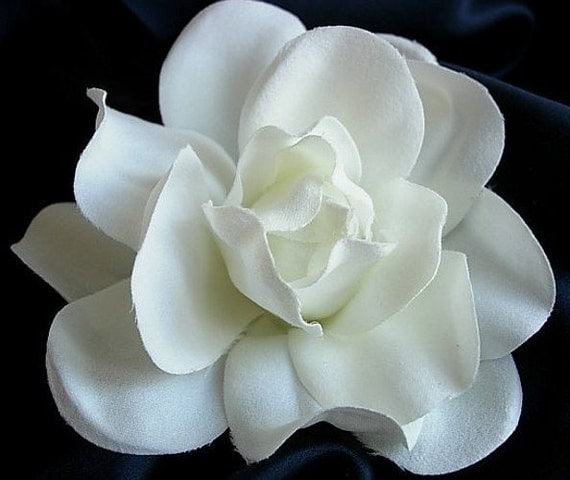 Off-White Gardenia Flower Bridal Flower Hair Clip