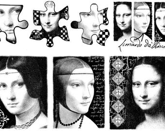 The Women of LEONARDO DA VINCI- set of unmounted rubber stamps by Cherry Pie