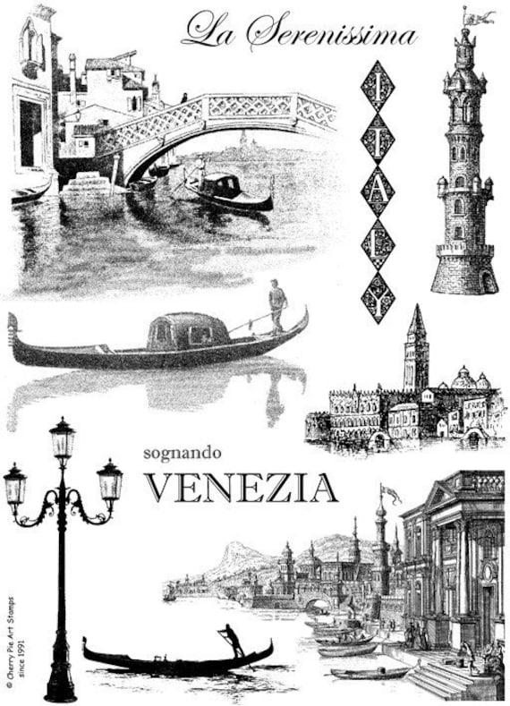 VENEZIA, Venice, ITALY, gondola - Set of unmounted rubber stamps