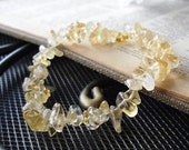 Citrine Bracelet - Stretchy Gemstone Bracelet - Prosperity