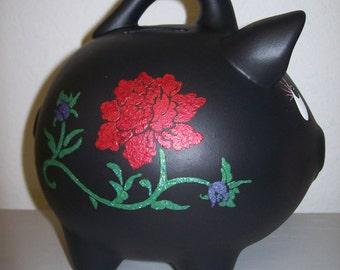 Hand Painted Ceramic Piggy Bank