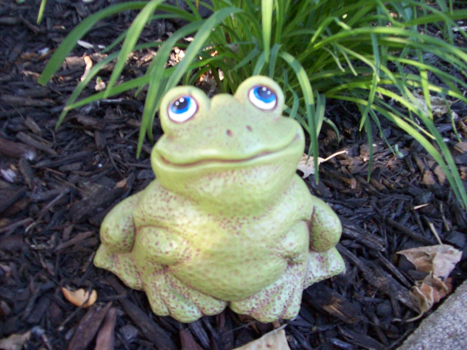 Ceramic Frog For Your Gnome Garden Lawn Ornament