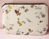 Little dachshund mini zipper pouch