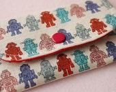 Cute Robot No.2 Mini Snap Wallet