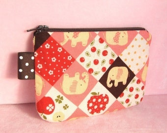 Little Elephant Mini Zippered Pouch