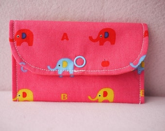 Lovely Elephant Mini Snap Wallet