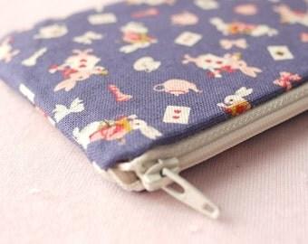 Mr. White Rabbit Mini Zipper Pouch