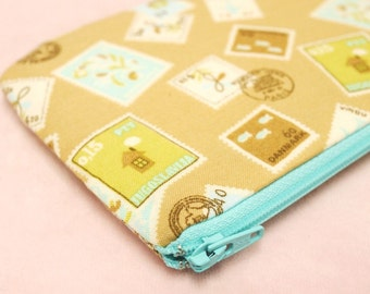 Denmark Stamp mini zipper pouch