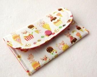 Piggy Dessert Mini Snap Wallet