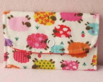 Colorful Sheep Mini Snap Wallet
