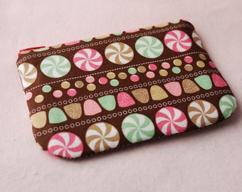 Candy Party mini zippered pouch
