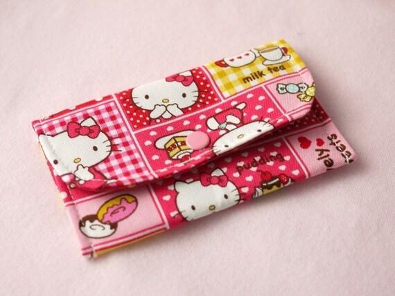 Hello Kitty Mini Snap Wallet (Pink)