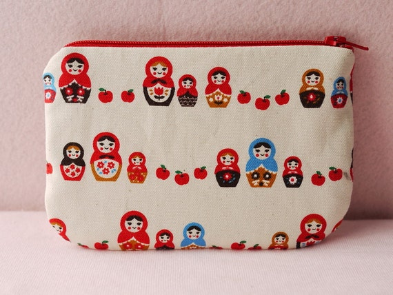 Matryoshka Doll Mini Zipper Pouch