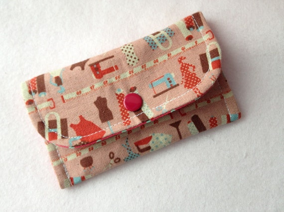 Sewing Room Mini Snap Wallet