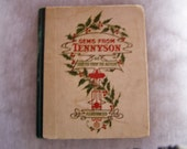 vintage Christmas poetry book gems by Tennyson