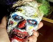 Mini Scary Creepy Evil Undead Circus Clown Zombie Head Prop Decoration
