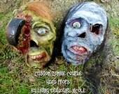 CUSTOM Zombie Undead Reanimated Corpse Life Size Head Halloween Horror Prop Decoration Handmade Dark Art