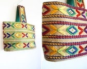 60s Geometric Yarn Wristlet - nichestyle