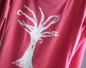 Extra Small Coral and White Love Birds Organic Women's T-Shirt