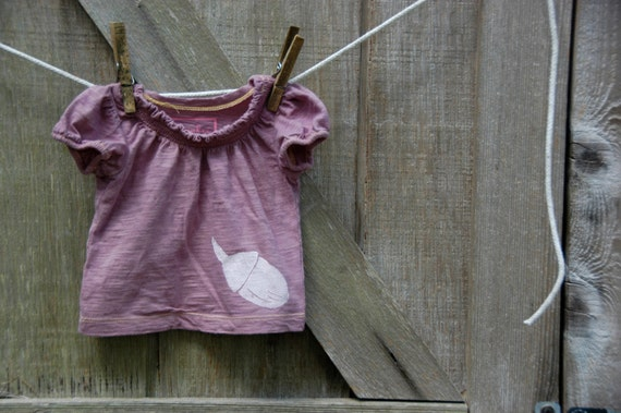 6 Month Infant Upcycled Acorn T-Shirt