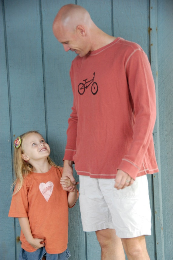 SALE Extra Large Men's Upcycled Bike Long Sleeve Waffle T-Shirt