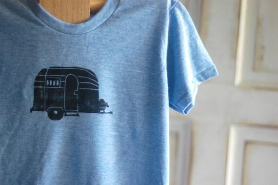 Youth Medium Blue and Black Airstream T-Shirt