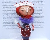 Queen of Hearts Art Doll by Weemeewhimsies - Original - Hand Painted