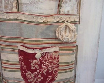 Washed Linen Market Bag The Wild Raspberry