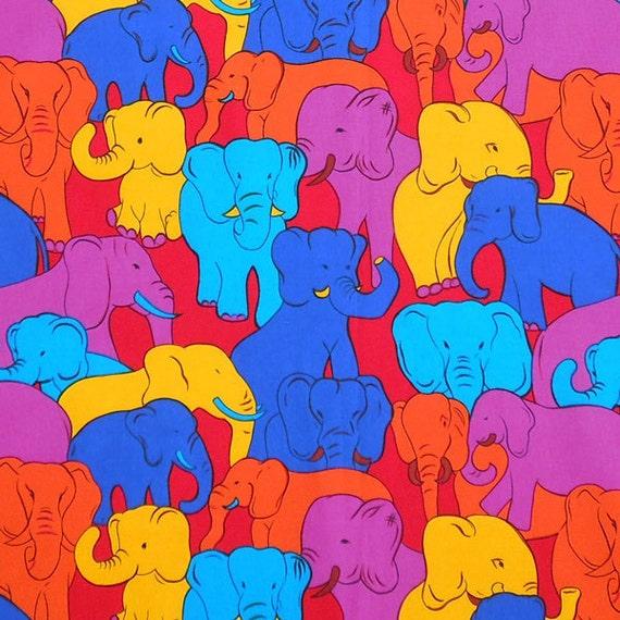 Children 39 s fabric red elephant fabric baby cotton fabric for Childrens elephant fabric