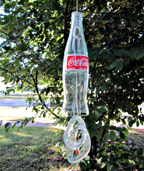 Wind Chime Coca Cola Bottle Upcycled Bell Style