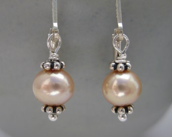 Petite Drops Pearl Earrings by Screaming Peacock Jewelry