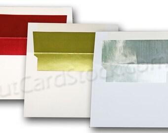 White FOIL Lined A6 Envelopes 50 pack