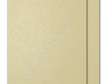 Neenah Esse Pearl COCOA (Champagne) 105lb Card stock 8.5x11 - 25 sheets