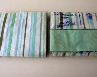 Vintage striped sheet