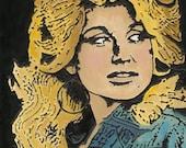 Dolly Parton Fine Art Giclee Print