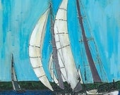 Sailboat Print of Original Painting