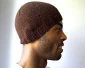 Mens toque brown chocolate , Winter hat