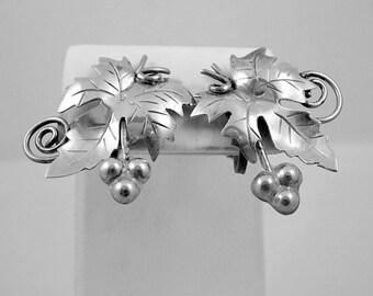 Taxco Mexico Grape Earrings