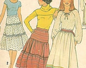 Skirt Pattern - Vintage Simplicity 8076 - Size12 - Dated 1977 UNCUT