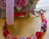 Grace in Shades of Red Bracelet