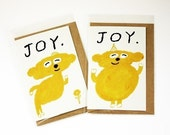 Discount )))  JOY notecards