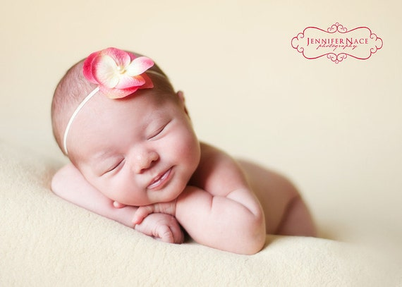 Avery Skinny Headband - Creamy Pink...Multiple Sizes Available Newborn Baby Infant Toddler Adult