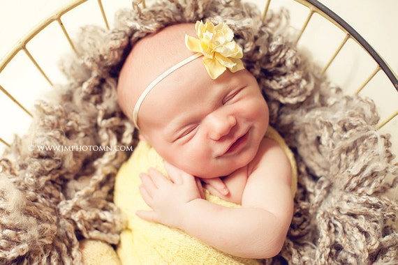 Vivienne Skinny Headband - Yellow...Multiple Sizes Available Newborn Baby Infant Toddler Adult
