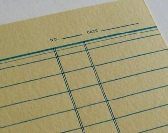 Index card letterpress printed postcard