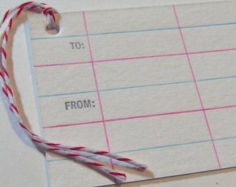 Letterpress printed gift tag